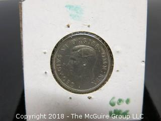 1947 ENGLISH ONE SHILLING COIN