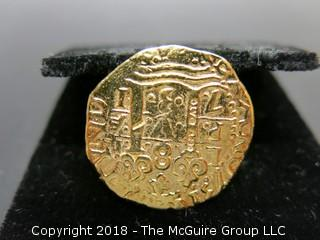 """WYSIWYG COIN looks like a replica of a Crusader/Templar coin """"copy cato"""" stamped in column"""