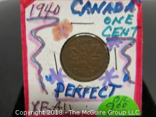 COLLECTION OF 4 CANADIAN PENNIES: 1920, 1920, 1940, 1941