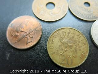 COLLECTION OF FOREIGN COINS INCLUDING SOUTH AFRICA, RHODESIA AND KENYA