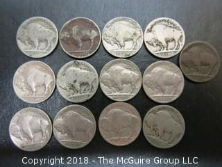 COLLECTION OF BUFFALO NICKELS