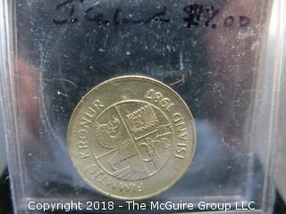 1957 ICELAND 50 KR. COIN