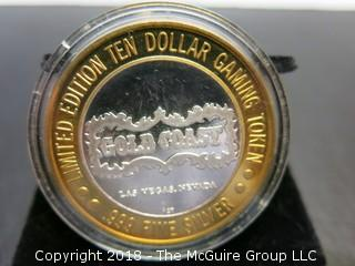 SILVER TEN DOLLAR GOLD COAST GAMING TOKEN