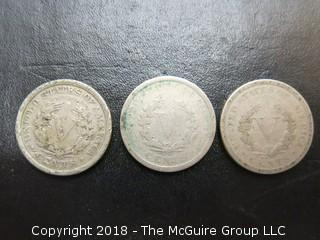1900, 1901 AND 1910 LIBERTY HEAD DIMES