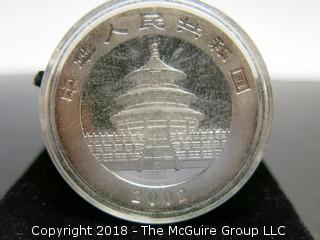 2002 PANDA SILVER 1 TR OZ COIN