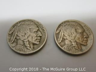 COLLECTION OF 6 BUFFALO NICKELS
