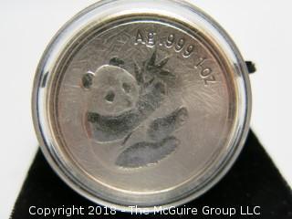 2000 PANDA SILVER 1 TR OZ COIN