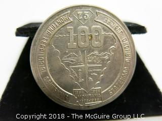 MONTANA 100TH ANNIVERSARY OF STATEHOOD COIN; 1974