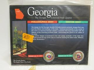 1999 GEORGIA COLORIZED STATE QUARTER