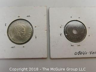 COLLECTION OF 2 FOREIGN COINS; HUNGARY