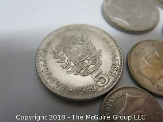 COLLECTION OF FOREIGN COINS INCLUDING SOUTH AMERICAN