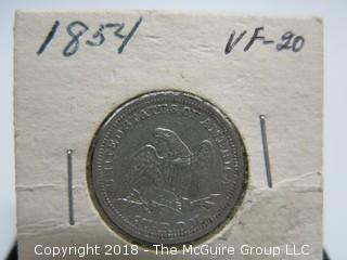 1854 U.S. QUARTER