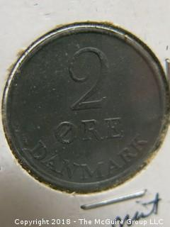 COLLECTION OF 9 FOREIGN COINS, INCLUDING DENMARK