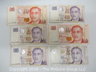 COLLECTION OF SINGAPORE BANK NOTES