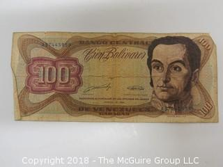 BOLIVIAN BANK NOTE