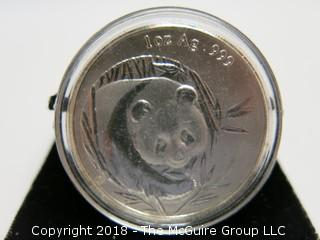 2003 PANDA SILVER 1 TR OZ COIN