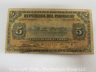 1907 PARAGUAY BANK NOTE