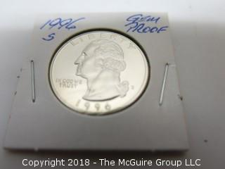 1996 S GEM PROOF U S SILVER QUARTER (NOTE: DESCRIPTION EDITED 2.11.18)