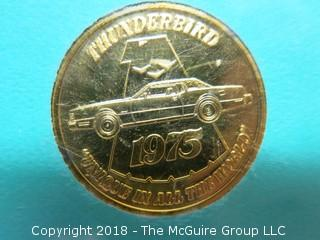 1955-20TH ANNIVERSARY-1975 LIMITED EDITION THUNDERBIRD MEDALLION
