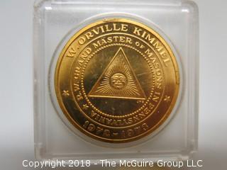 W. ORVILLE KIMMEL MASONIC MEDALLION
