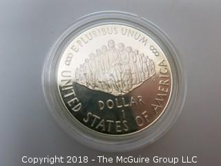 """WE THE PEOPLE"" SILVER MEDALLION;  1 DOLLAR (NOTE: DESCRIPTION EDITED 2.11.18)"