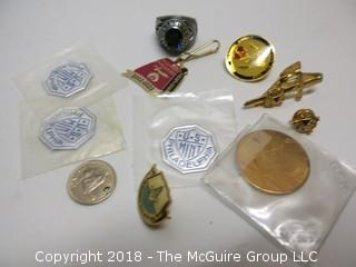 ECLECTIC COLLECTION INCLUDING MEN'S RING, TIE CLASP AND PINS