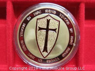 MASONIC MEDALLION - KNIGHTS TEMPLAR