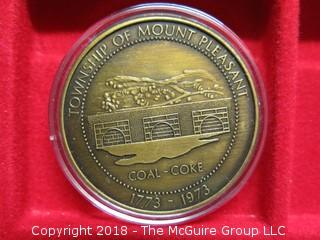 TOWNSHIP OF MOUNT PLEASANT MEDALLION; BICENTENNIAL
