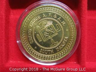 1875-1975; A CENTURY OF MASONIC PROGRESS MEDALLION