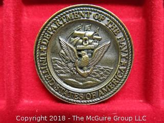 DEPUTY ASSISTANT SECRETARY OF THE NAVY MEDALLION; THEATER COMBAT SYSTEMS