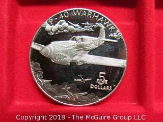 1991 MARSHALL ISLANDS: P-40 WARHAWK - 5 DOLLARS