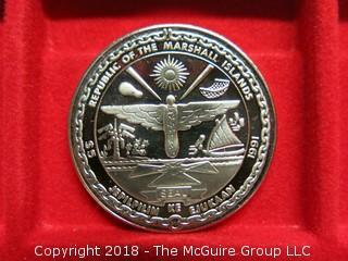 1991 MARSHALL ISLANDS: P-40 WARHAWK - 5 DOLLARS