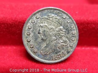 1834 CAPPED BUST U S SILVER HALF-DIME