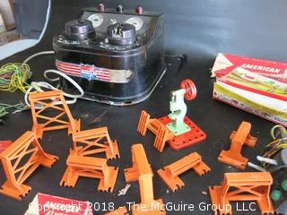 Vintage American Flyer Toy Train and Accessories