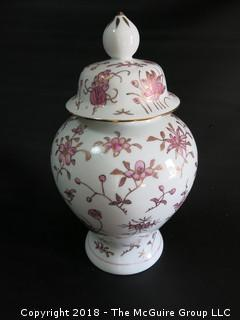 Hand Painted Ceramic Covered Urn