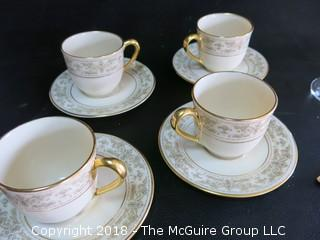 Collection including set of 4 Lenox cups and saucers, and stemware