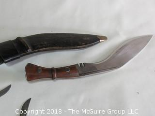 Fixed Blade Knife and hand stitched Sheath