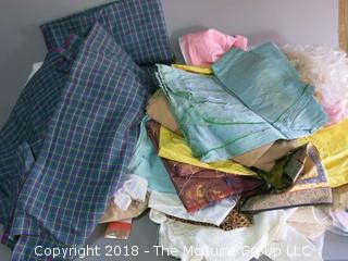 Assorted textiles and sewing patterns