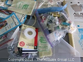 Assortment of Craft, Sewing, and Needle Art Supplies