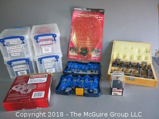 Collection of router bits and accessories