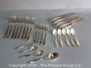 Sterling Flatware and case; 760 grams excluding knives