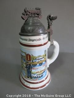 Stein with Train Ornamentation