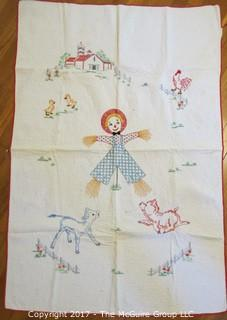 Hand stitched children's quilt; 36 x 52""