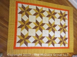 1970's machine made quilt; 58 x 77""
