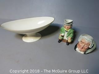 Collection including Lenox Serving Bowl and 2 Toby Mugs