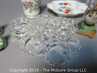 Eclectic collection including glassware and figurines