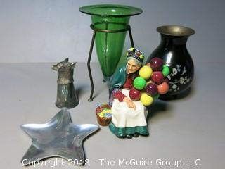 Collection including Nambe star and Royal Doulton figurine