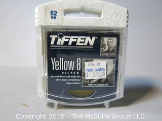 Tiffen Camera Lens Filter; 62mm 8 Yellow 2 Filter