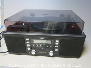 TEAC CD Recorder with Turntable/Cassette Player; Model LP-R550 USB
