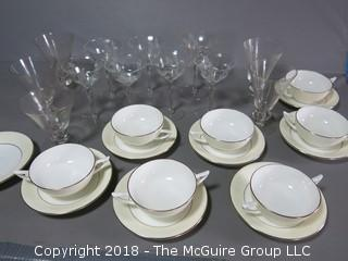 Collection including Minton Bone China and Glassware